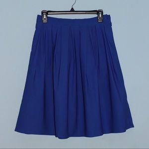 Dresses & Skirts - Blue Pleated Flare Skirt